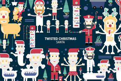 Twisted Christmas Santa 02