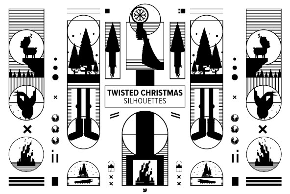 Twisted Christmas Silhouettes 01
