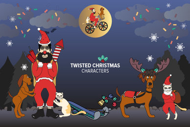 Twisted Christmas Characters