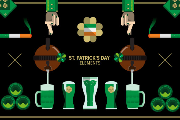 St. Patrick's Day Elements - Graphics