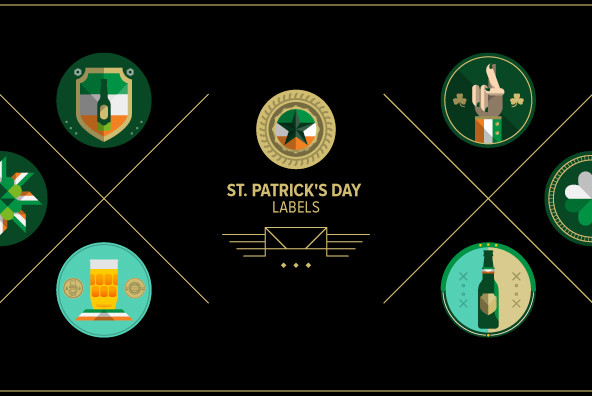 St. Patrick's Day Labels 01 - Graphics