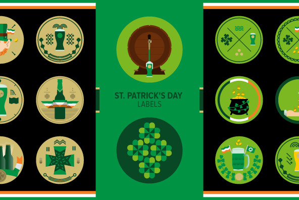 St. Patrick's Day Labels 02 - Graphics