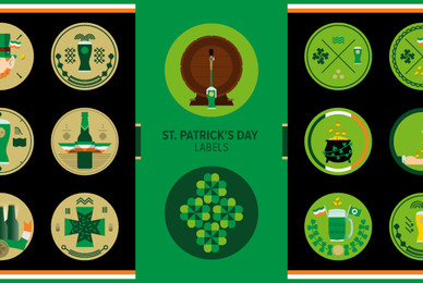 St  Patrick039 s Day Labels 02