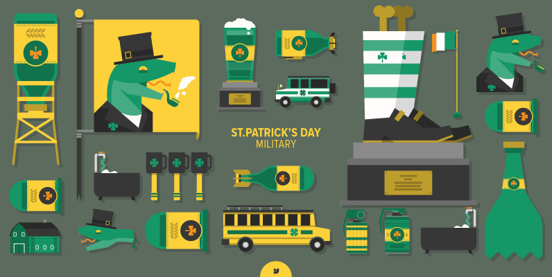 St Patrick s Day Military