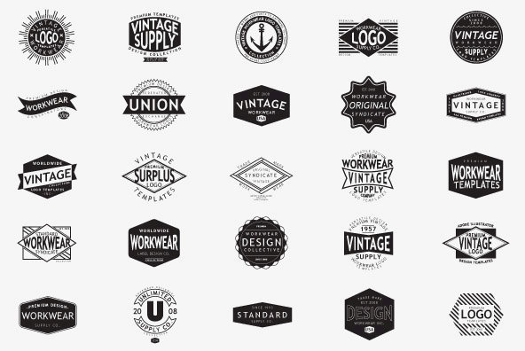 Vintage Workwear Logo TemplatesVintage Logo Template
