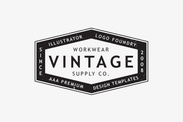 Vintage Workwear Logo Templates
