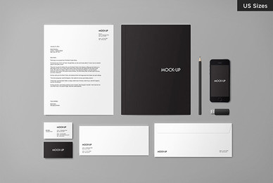 Stationery Mock up US Edition