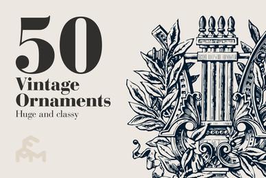 50 Vintage Ornaments