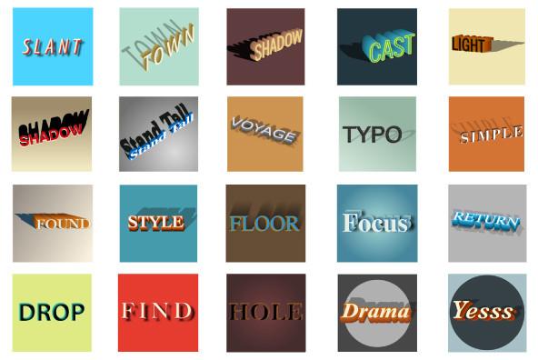 Typography Templates  Shadow