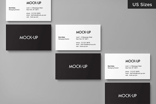 Business card mockups us sizes graphics youworkforthem for Visiting card size in inches