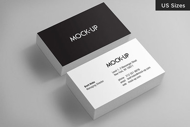 Business Card Mockups   US Sizes