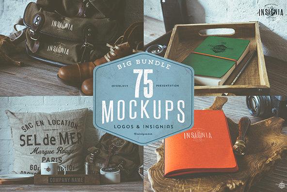 75 Hip Logo Overlay Mockups