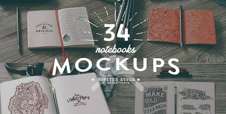 34 Hip Notebook Mockups