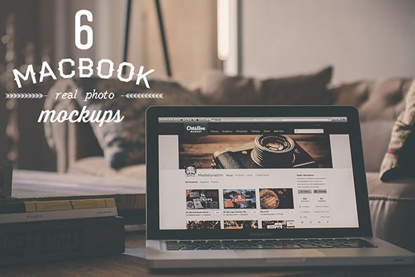 6 Macbook Mockups