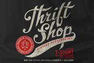Thrift Shop  Vintage T Shirt Texture Template