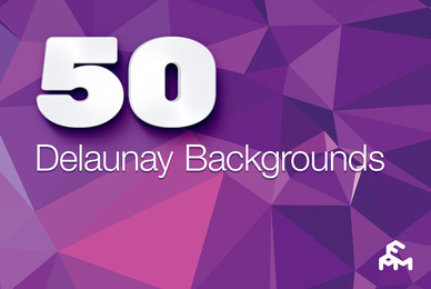 50 Delaunay Triangular Backgrounds