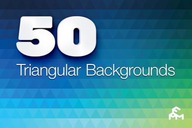 50 Triangular Backgrounds