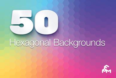 50 Hexagonal Backgrounds