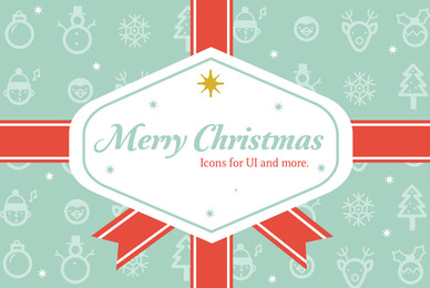 Merry Christmas icons and labels
