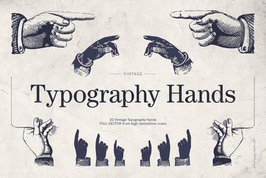 Vintage Typography Hands