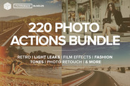 FilterGrade 220 Photoshop Actions Bundle