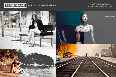 Black  White Series Photoshop Actions