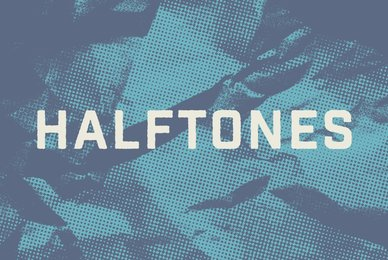 Crumpled Halftone Textures