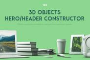 3D Hero Header Constructor