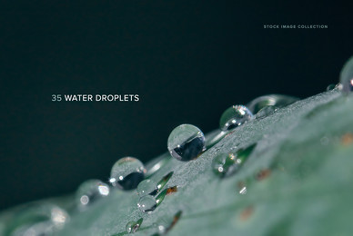 35 Water Droplet Images