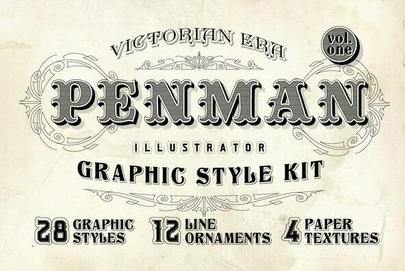 Penman Vintage Graphic Styles