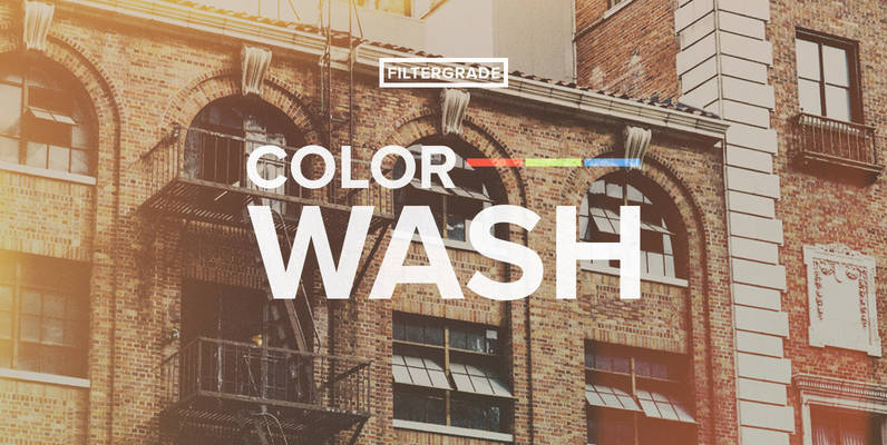 ColorWash - Faded Photoshop Actions