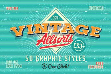 Vintage Allsorts Graphic Styles