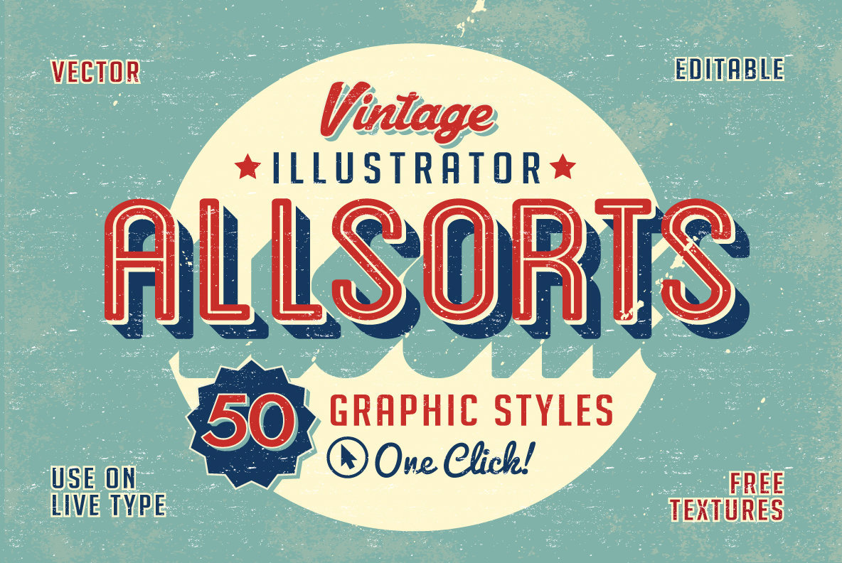 Vintage Allsorts Graphic Styles