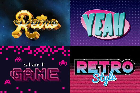 80s Retro Graphic Styles