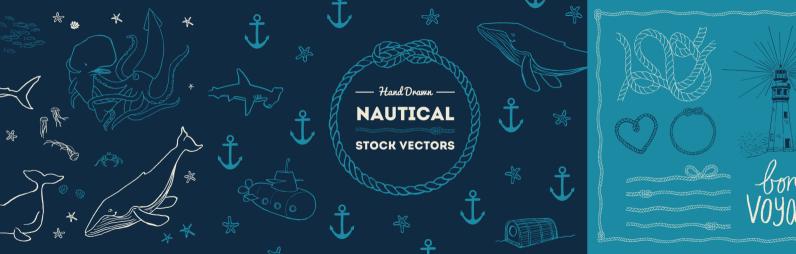 Hand Drawn Nautical Illustrations