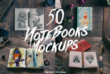 50 Notebook Mockups
