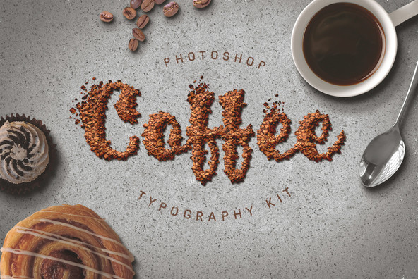 Food Typography Psd Actions