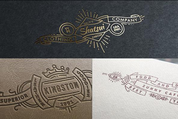 Wide Vintage Logo Templates