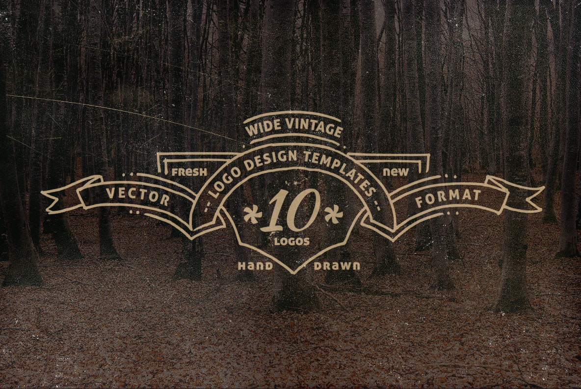Wide Vintage Logo Templates Graphics Youworkforthem