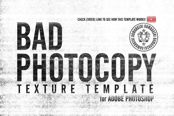 Bad Photocopy Texture Template