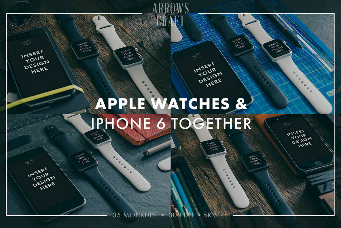 Arrows   Craft   Apple Watch Mockups