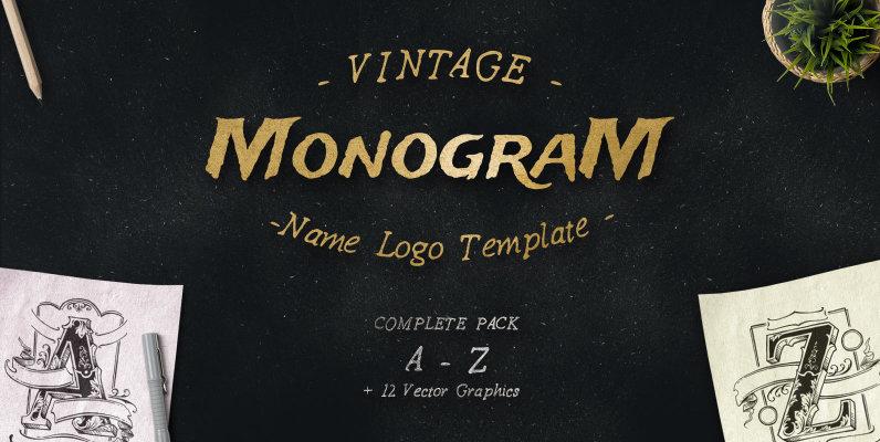 Vintage Monogram Logos