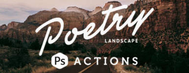 Poetry Landscape Photoshop Actions
