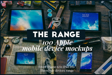 The Range   100 Apple iDevice Mockups