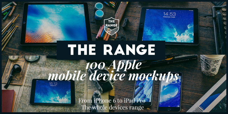 The Range - 100 Apple iDevice Mockups