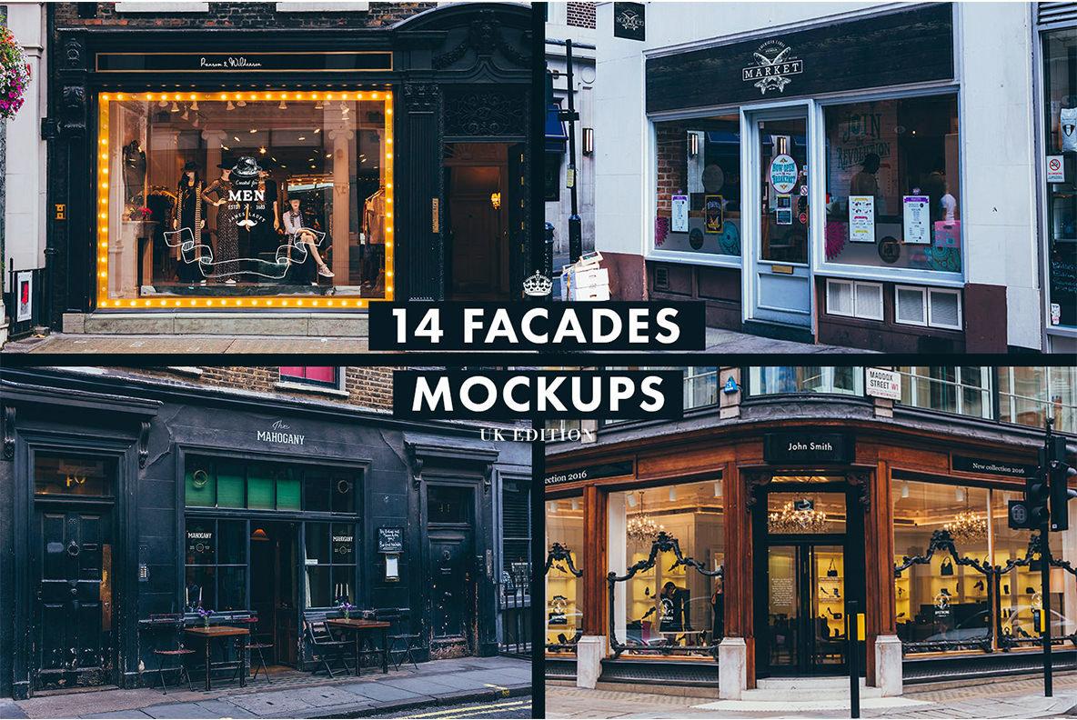 165 Signs   Facades Photoshop Mockups Collection