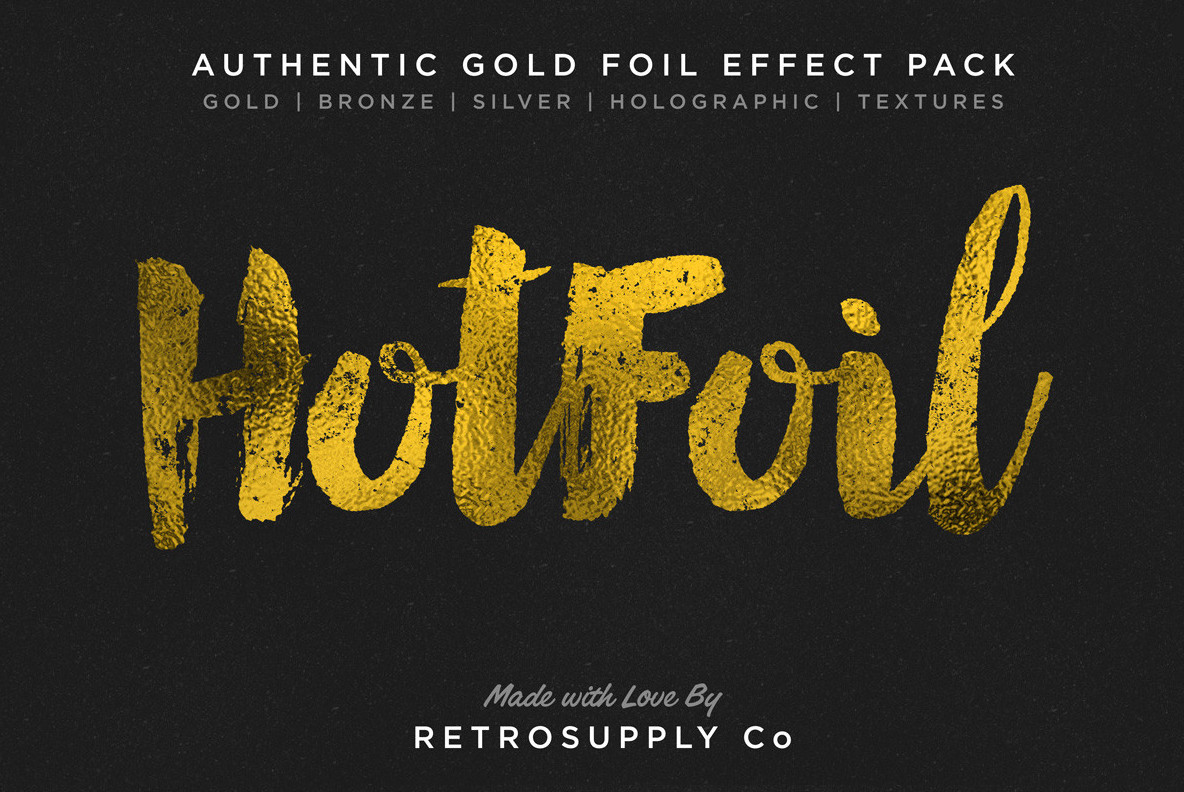 Hot Foil   Gold Foil Effects   More