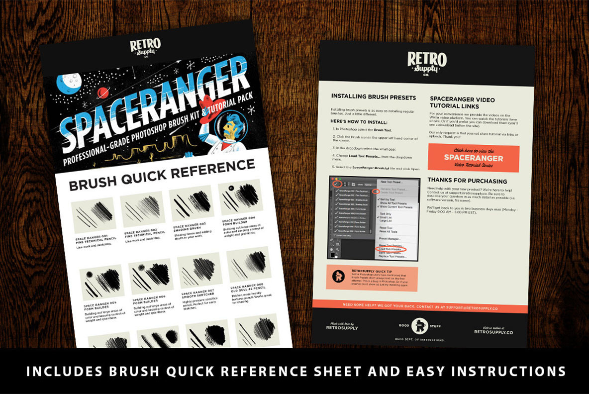 SpaceRanger Brush Kit and Tutorial Pack