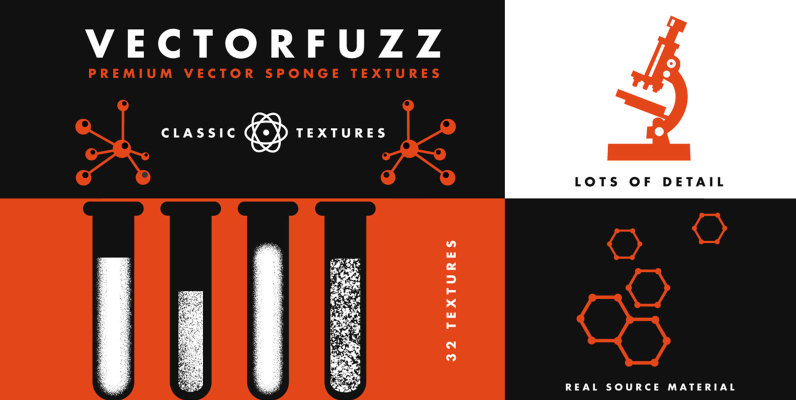 VectorFuzz | Brush and Sponge Textures for Illustrator