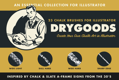 DryGoods   Chalk Brushes for Adobe Illustrator